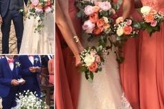 Mariage blanc rose corail